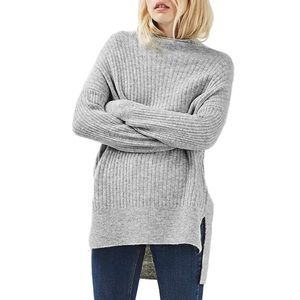 TOPSHOP Oversized Funnel Neck Sweater Size 2 NWT